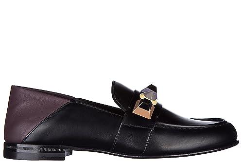 Fendi Mocasines en Piel Mujer Nuevo Negro EU 38 8D6382 SNV F06VE: Amazon.es: Zapatos y complementos