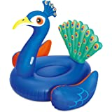 SUMMER WAVES Giant Peacock Inflatable Swimming Pool Float