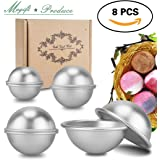 DIY Metal Bath Bomb Mold, Magift 8 Pieces 4 Size 4 Set Bath Bomb Kit for Relax and Save Your Money, Mix and Make Your Own Unique Recipes, Making Lush Perfect Bath Bombs for Gift