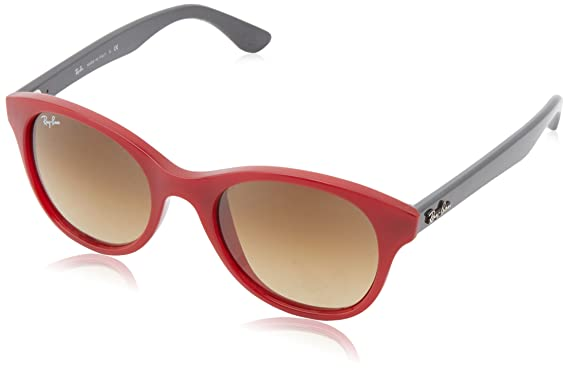 RayBan Women s Red Round Sunglasses RB-4203-6044-85  Amazon.in ... 107d712780ef