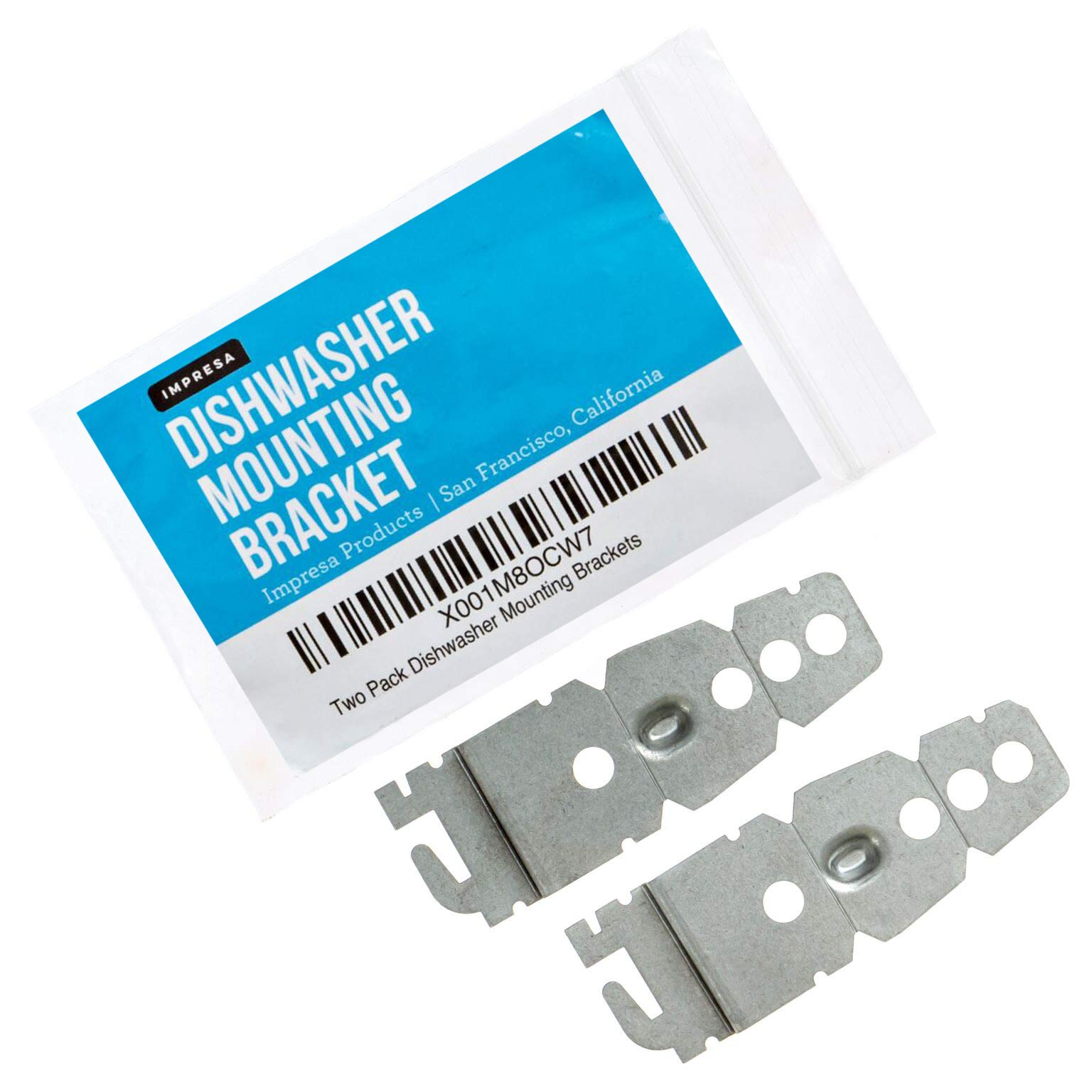 2-Pack Undercounter Dishwasher Bracket Replacement - Whirlpool -Compatible - Compare to 8269145 / WP8269145 - Replacement Dishwasher Upper Mounting Bracket