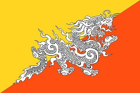 bhoutan drapeau