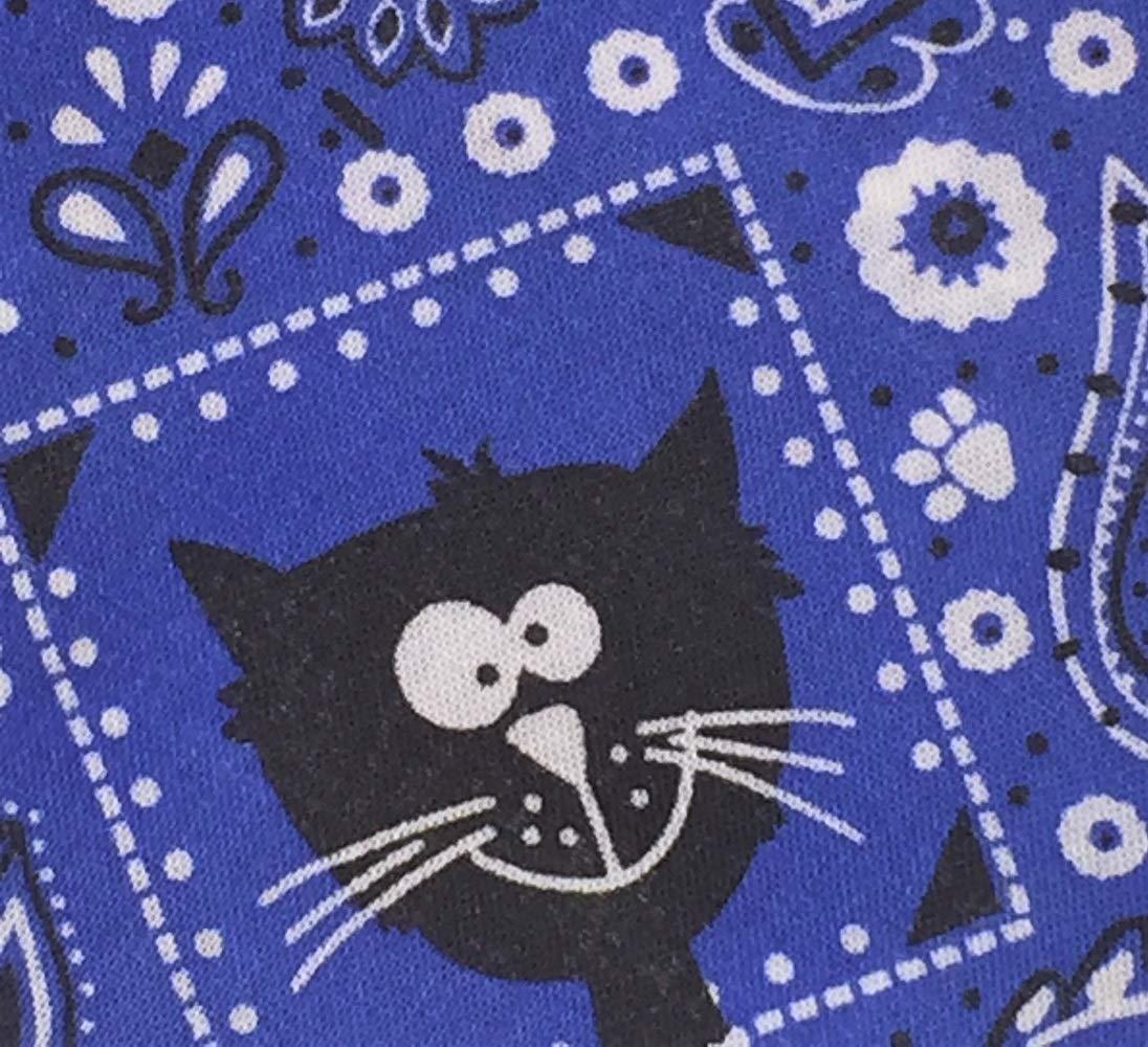 Small Blue Bandanna Cat Bandana