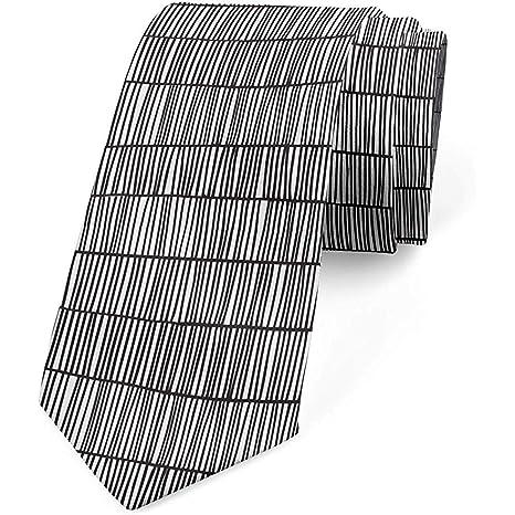 Corbata para hombres, rayas verticales monótonas, 8 cm, gris ...