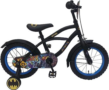 Batman Bicicleta Infantil Niño Chico 14 Pulgadas Freno Delantero al...