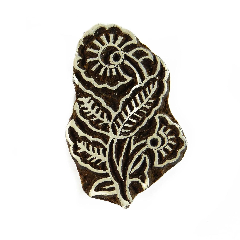 Sellos de la India Textil Madera Madera Bloque de imprenta floral sello Bloque decorativo Indianbeautifulart