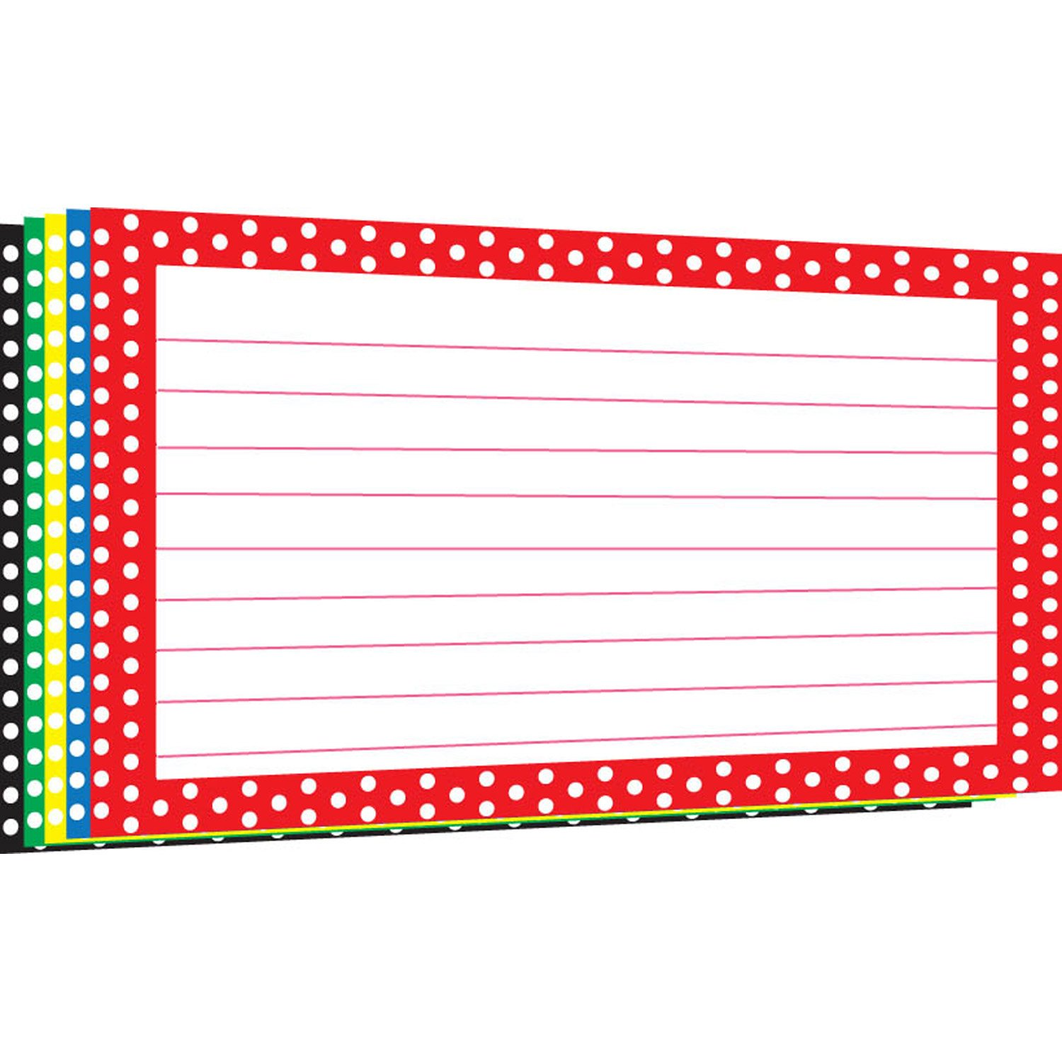 Amazon.com : TOP3669 - BORDER INDEX CARDS 4X6 POLKA DOT : Office ...