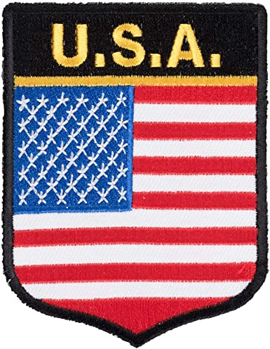"4 1//2/"" Iron On Patch Patriotic Amerca Biker United States of America /""U S A/"""