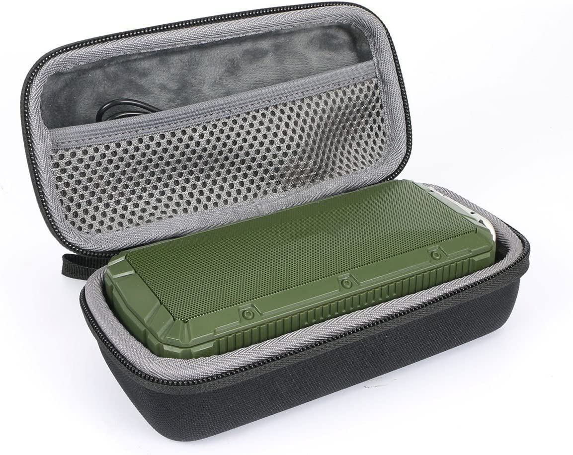 Hard Travel Case for APIE Portable Wireless Outdoor Bluetooth Speaker IPX6 Waterproof Dual 10W Driversf by co2CREA Black