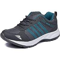 LeatherKraft Men's Premium Quality Sports Running Shoes Grey