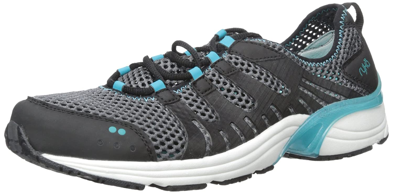 Ryka Women's Hydro Sport 2 Cross-Training Water Shoe B015T5EJNY 5.5 B(M) US|Black/Iron Grey/Bluebird