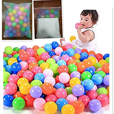 A-cool Pit Balls, Colorful Fun Proof Balls Soft Plastic Air-Filled Ocean Ball Playballs for Baby Kids Tent Swim Toys Ball Pack of 50: Toys & Games