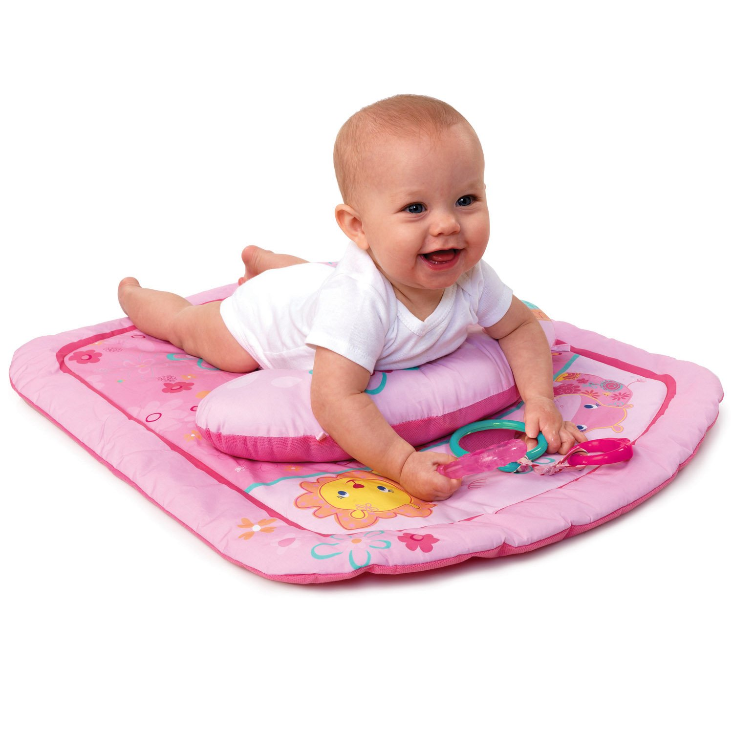 Amazon Bright Starts Tummy Time Prop and Play Mat Little