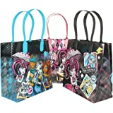 """Mattel Monster High Party Favor Goodie Gift Bag - 6"""" Small Size (12 Packs)"""