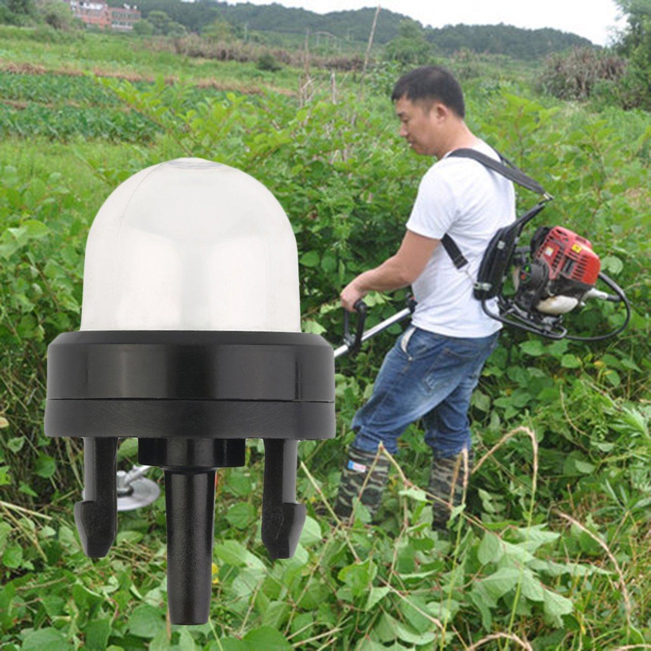Jasnyfall Ampoule Universelle pour pi/èces de carburateur Garden Lawn Mowe Taille-haie Tondeuse /à cha/îne Aspiration dhuile de carburateur Nouveau Transparent