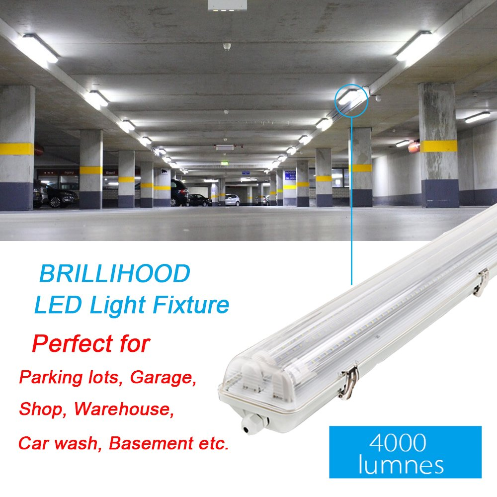 36w 4ft 120cm Led Twin Batten Tube Light Surface Mount Or Hanging Ip65 Tri Proof Ceiling Fluorescent Light Fixture 4000lm Clear Cover 6000k Bright White Indoor Outdoor Ceiling Lights Buy Online In United Arab
