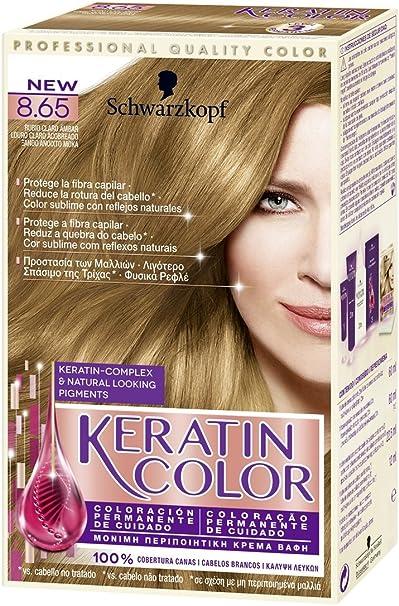 Keratin Color - Coloración permanente para el cabello, Tono 8.65, 1 unidad