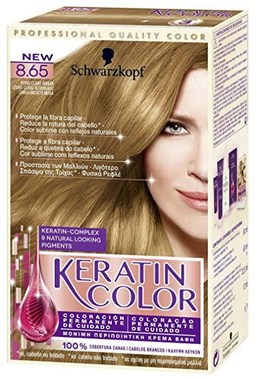 Schwarzkopf KERATIN COLOR Professional Quality Permanent Color Hair Dye Tono 8.65