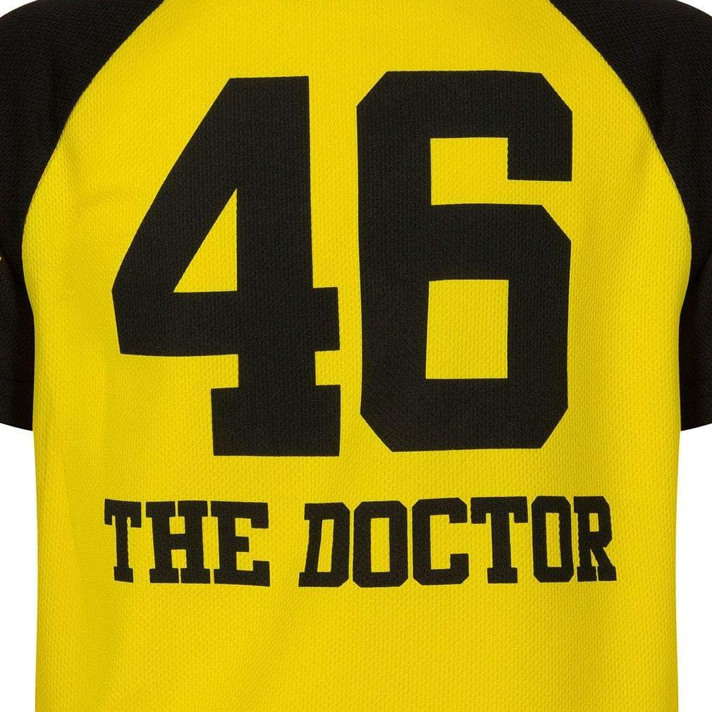 6//7 Ans VALENTINO ROSSI T-Shirt Enfant VR46 The Doctor Officiel MotoGP Jaune