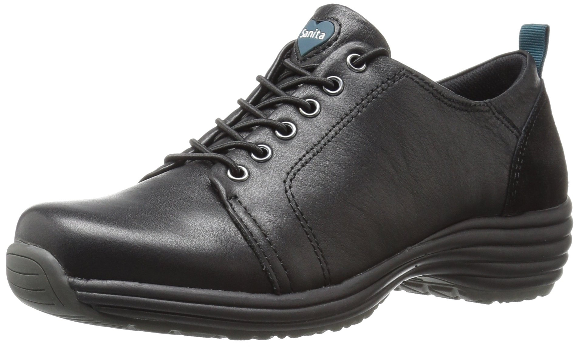 Sanita Women's O2 Luxe Prosper Work Shoe, Black, 41 EU/10 M US