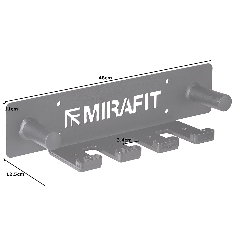 Ospita 3 aste per pesistica MiraFit Rastrelliera Verticale da Parete per 3 aste con Supporti per collari collari