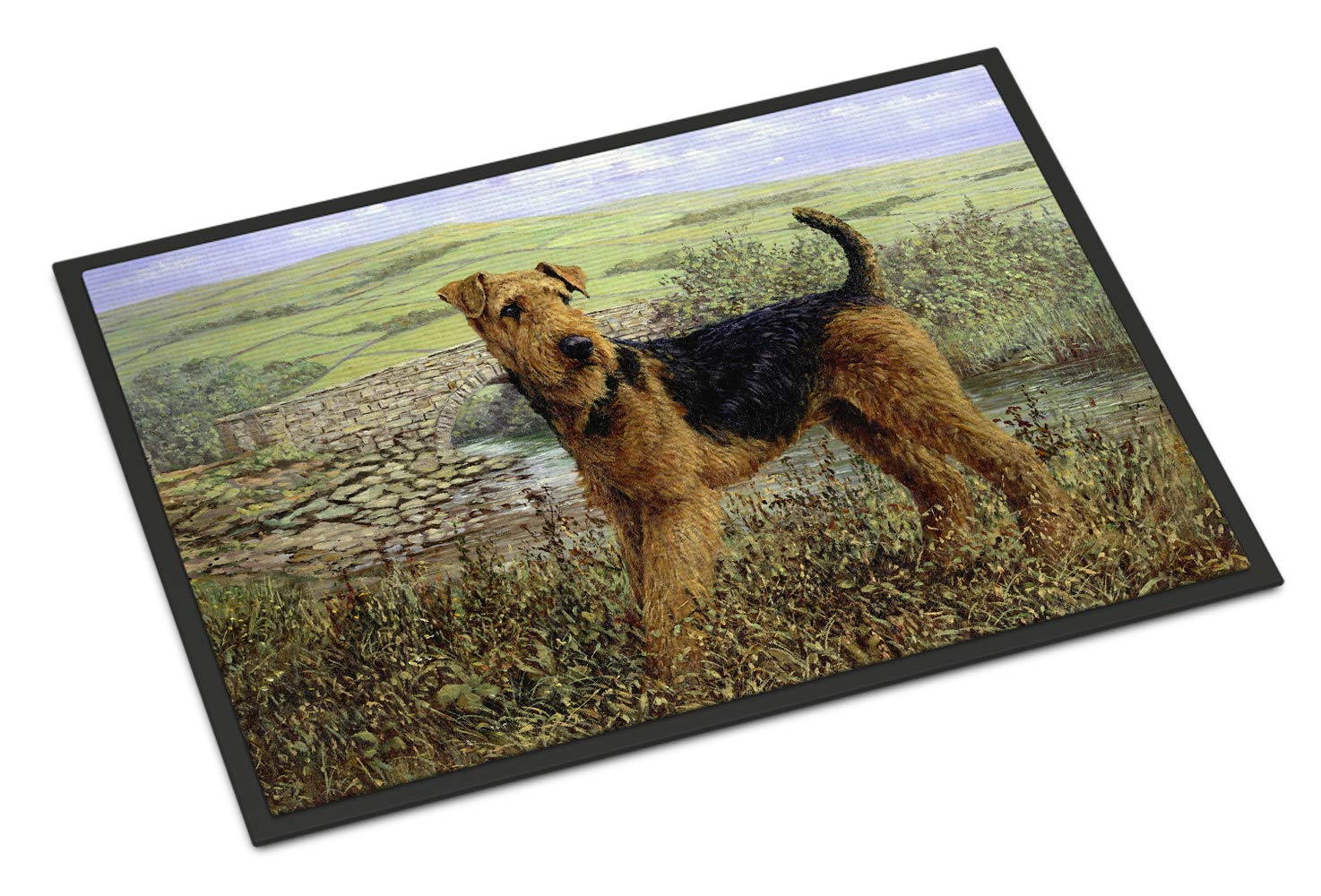 Caroline's Treasures HMHE0245MAT Airedale Terrier The Kings Country Indoor or Outdoor Mat 18x27, 18H X 27W, Multicolor 1