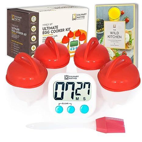 Amazon.com: Culinario Native olla de huevos de silicona – 4 ...