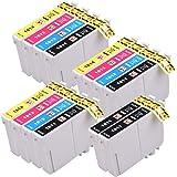 PerfectPrint Lot de 14cartouches d'encre compatibles avec Epson XP102XP202XP212XP215XP205Xp225XP30XP302XP305XP312XP315XP322XP325XP402XP412XP415XP422XP405XP405 XP425XP405