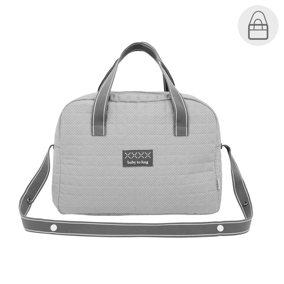 Bolso Maternal Prome Pic Gris 18X44X33 Cm Cambrass 41388