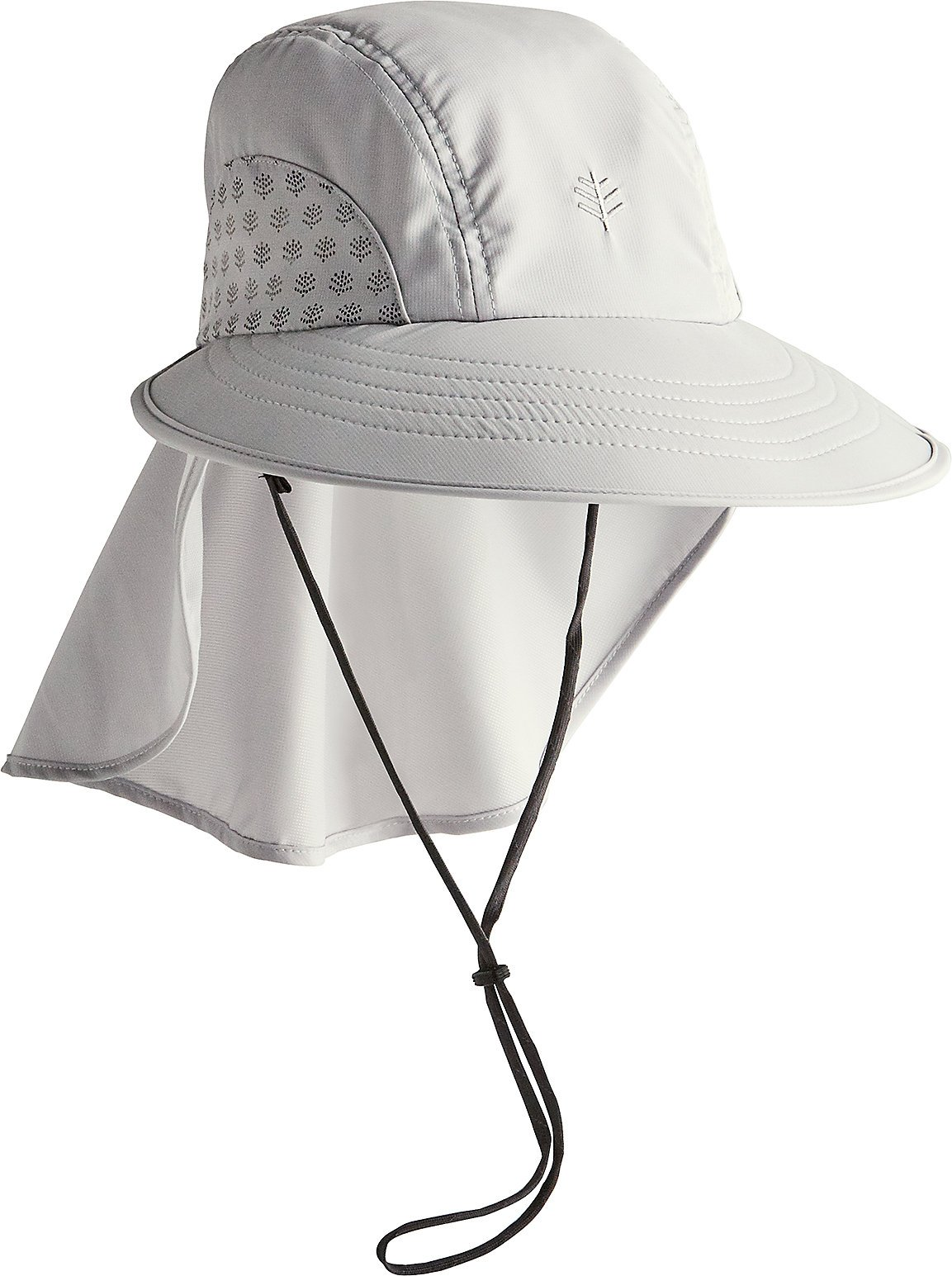 Coolibar UPF 50+ Women's Men's Explorer Hat - Sun Protective (Large/X-Large- Light Grey) by Coolibar (Image #2)