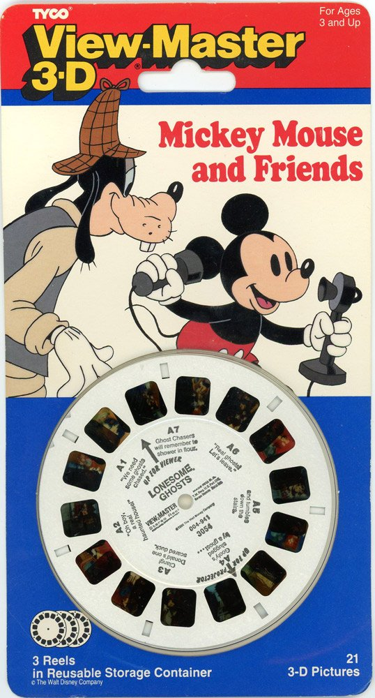 Viewmaster - Mickey Mouse and Friends - 21 3d Images by View Master