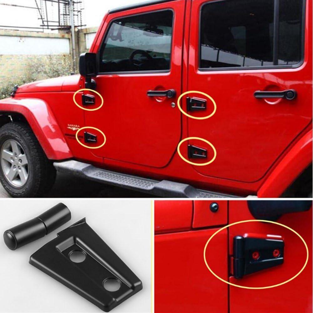 TUTU-C 2007 2017 para Jeep Wrangler accesorios de conversi/ón puerta cromada dos pares de bisagras bisagra cubierta bisagra