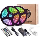 LED Strip Lights, YORMICK 32.8 Feet/10M 300LED Light Strip SMD 5050 Waterproof Flexible RGB Strip Lights with 44 Keys IR Remo