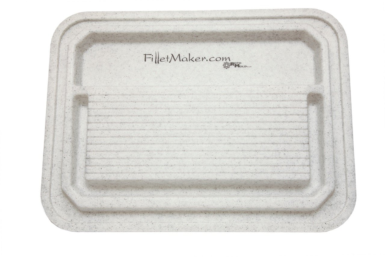 Master Filletmaker Double-Sided Utility Cutting Board (H-3.25'', W-24'', L-32.25'') (White)