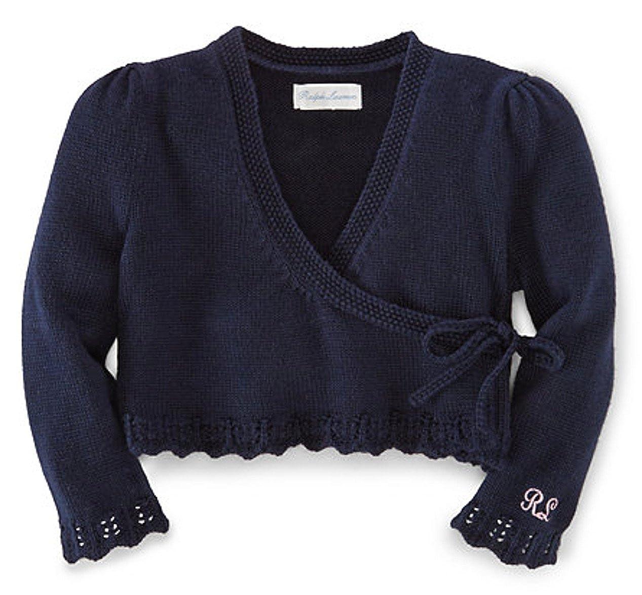 Ralph Lauren Baby Girls Cotton Ballet Wrap Sweater