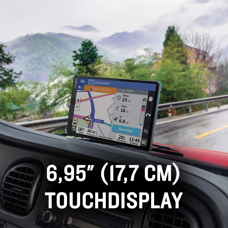 Garmin Dēzl Lgv700 Mt S Lkw Navi Mit 6 95 17 7 Cm Touchdisplay Vorinstallierten 3d Eu Navigationskarten Live Traffic Verkehrsinfo Fahrzeugspezifisches Routing Warnhinweise Parkplatz Finder Navigation