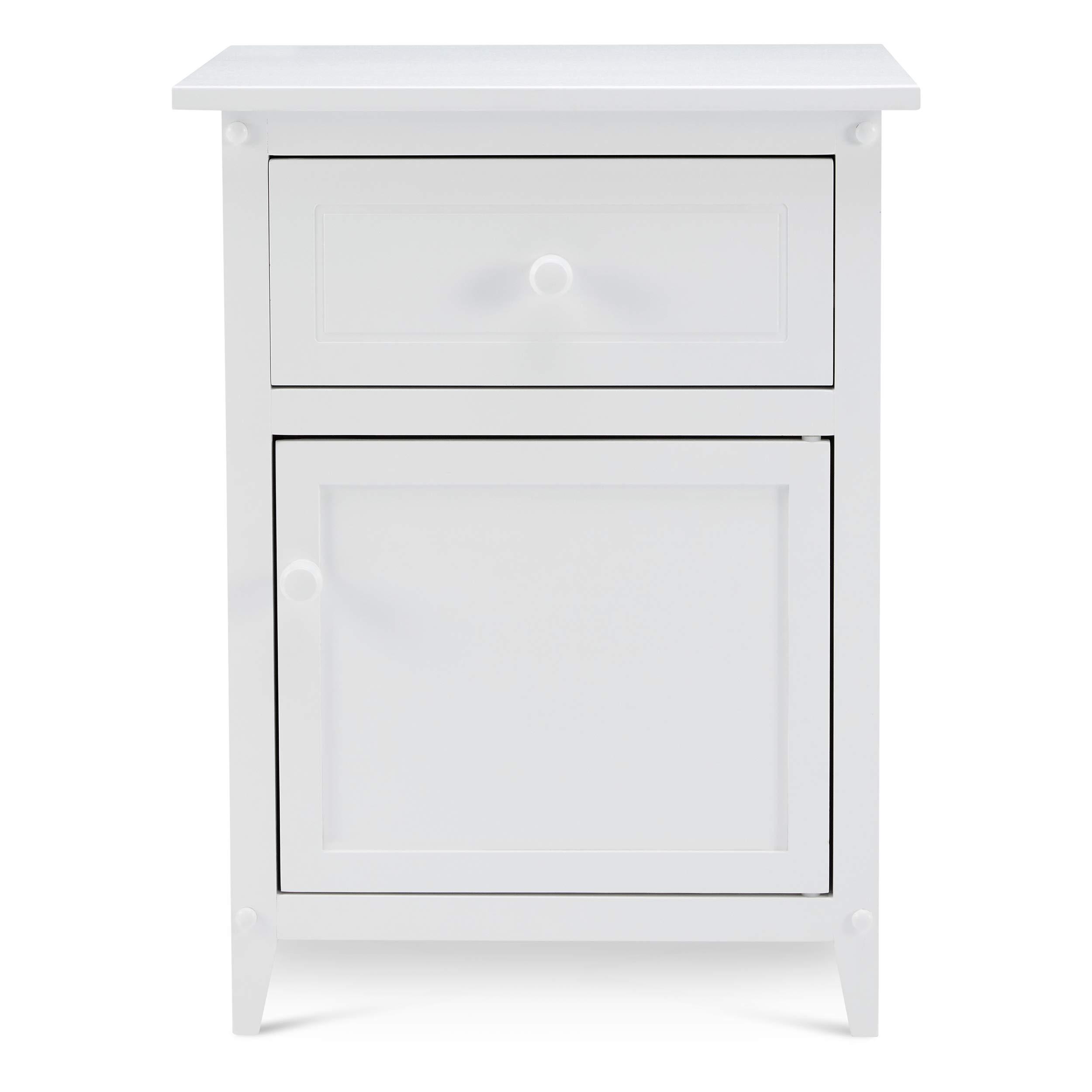 Civet Home CA01-0101-005-SG-A06 Storage Cabinet Night Stand, White