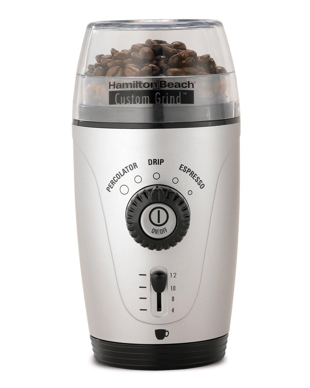 Hamilton Beach 80365 Custom Grind Hands-Free Coffee Grinder, Platinum by Hamilton Beach (Image #1)