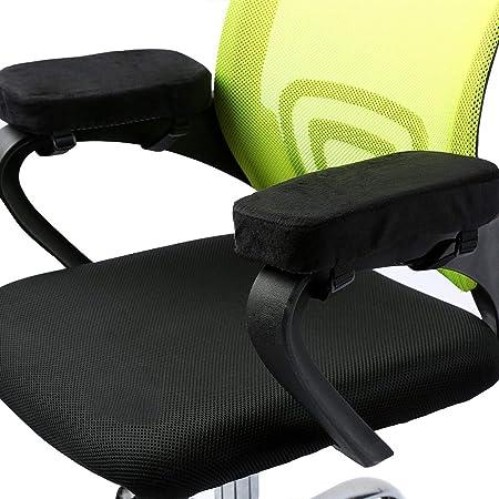 ANSUG 2 Piezas Cojín del apoyabrazos de la Silla, cojín de Espuma extraíble Fundas de Brazos extraíbles para sillas de Oficina y sillas de Ruedas - ...
