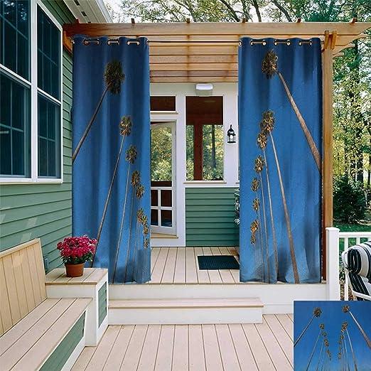 Leinuoyi Hoja de palmera, arandela de cortina para exteriores ...