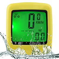 Wireless Waterproof Bicycle Computer with 27-function Cycling Odometers with LCD Backlight for Bicycle Enthusiasts
