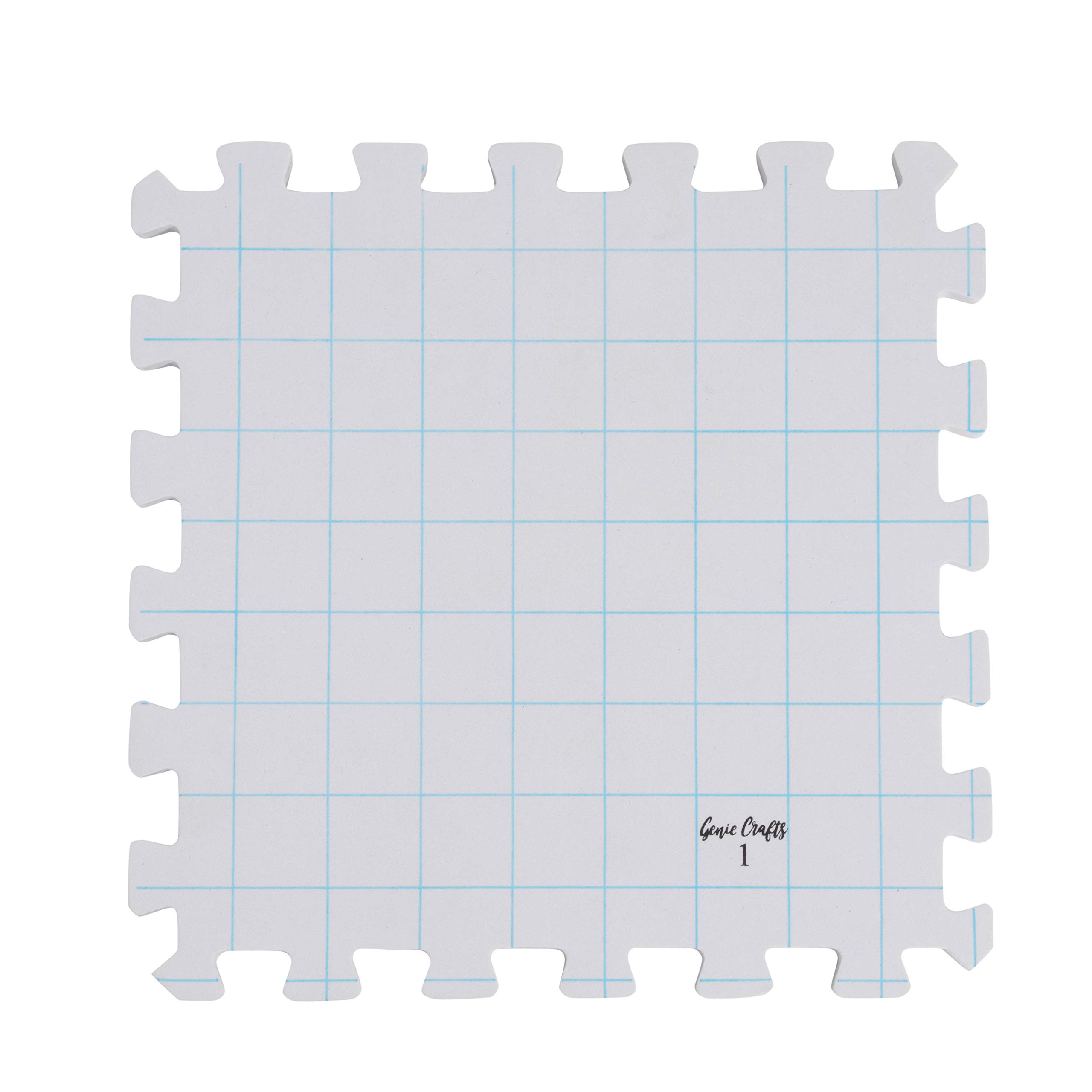 Juvale 9-Pack Thick Blocking Board Mats with 200 T-Pins and Storage Bag for Knitting and Crochet, 12.5 Inches by Juvale (Image #5)
