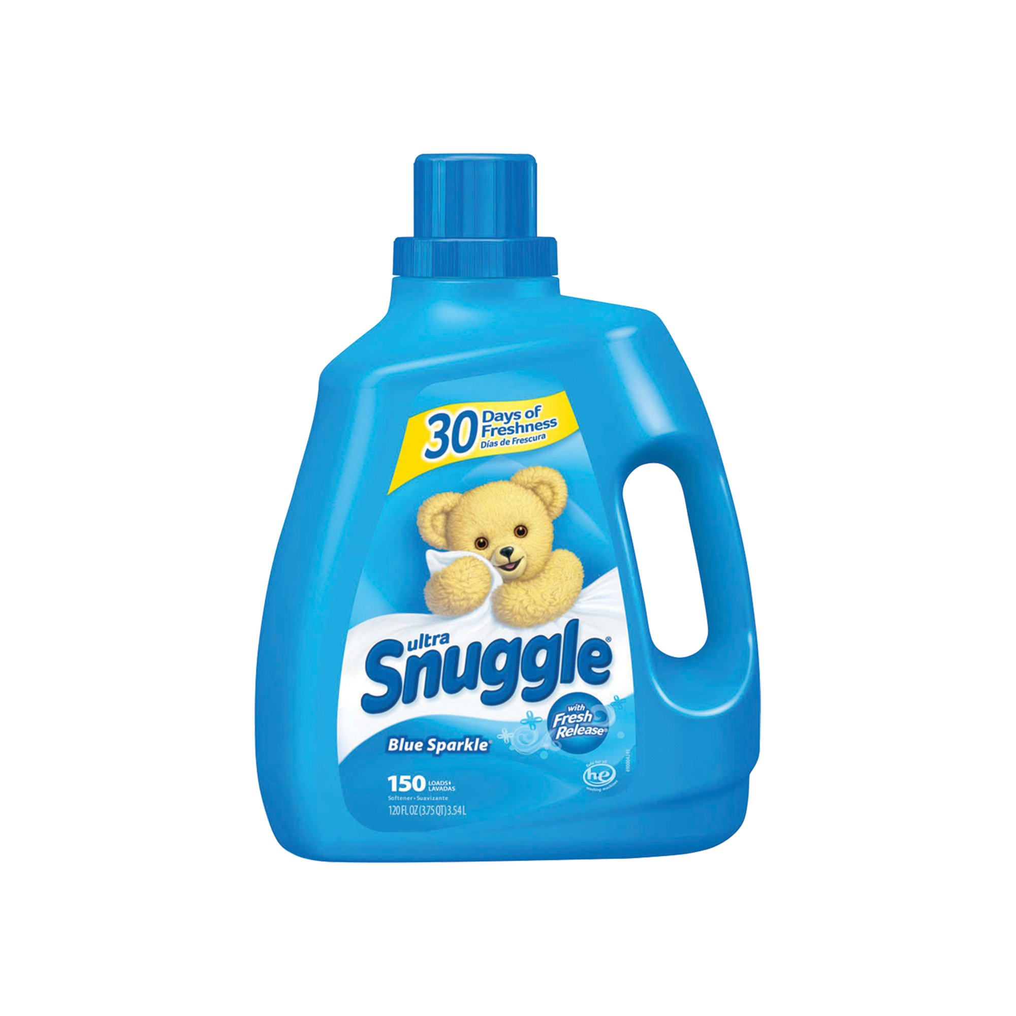 Diversey CB459794 Snuggle Liquid Fabric Softener Blue Sparkle 4 x 120 oz. (150 Loads per Unit) (Pack of 4) by Diversey