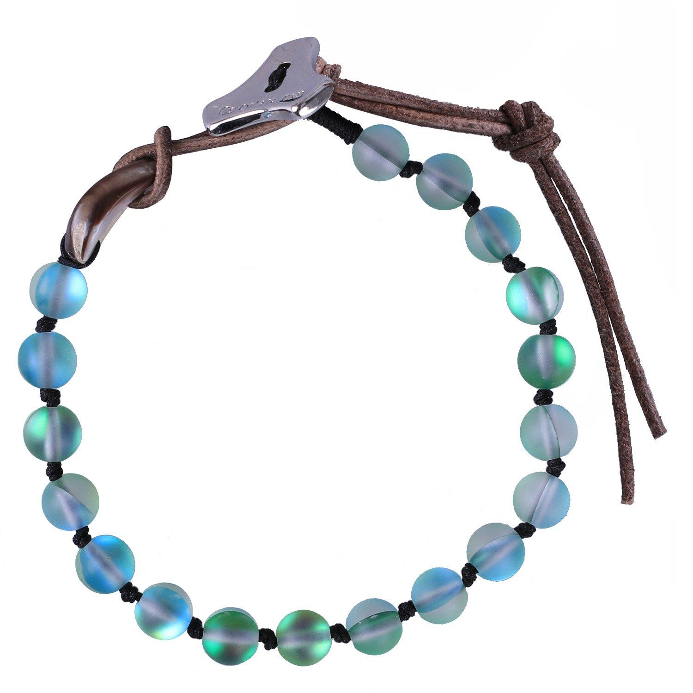 C·QUAN CHI Women Beaded Bracelets Moonstone Jewelry Bohemian Bracelet Gemstone Strand Bracelet Charm Adjustable Bracelet Women Gifts Teen Girl