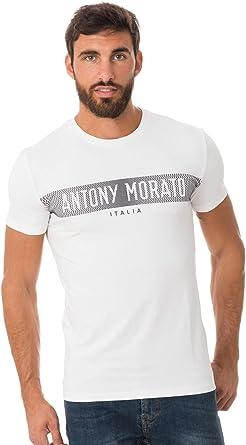 Camiseta Antony Morato Silver M Blanco: Amazon.es: Ropa y ...