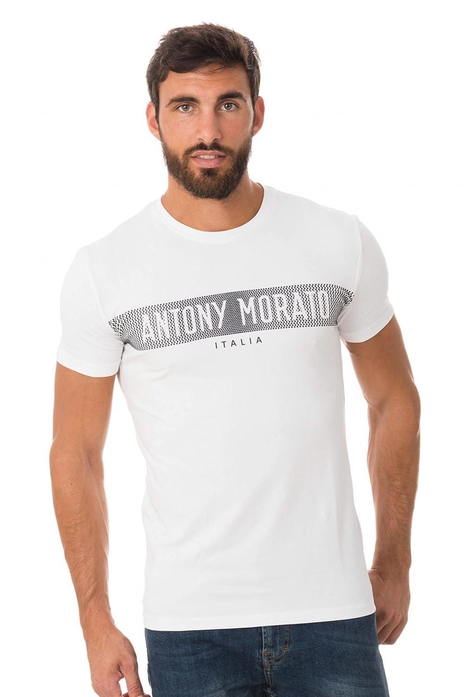Camiseta Antony Morato Silver M Blanco: Amazon.es: Ropa y accesorios