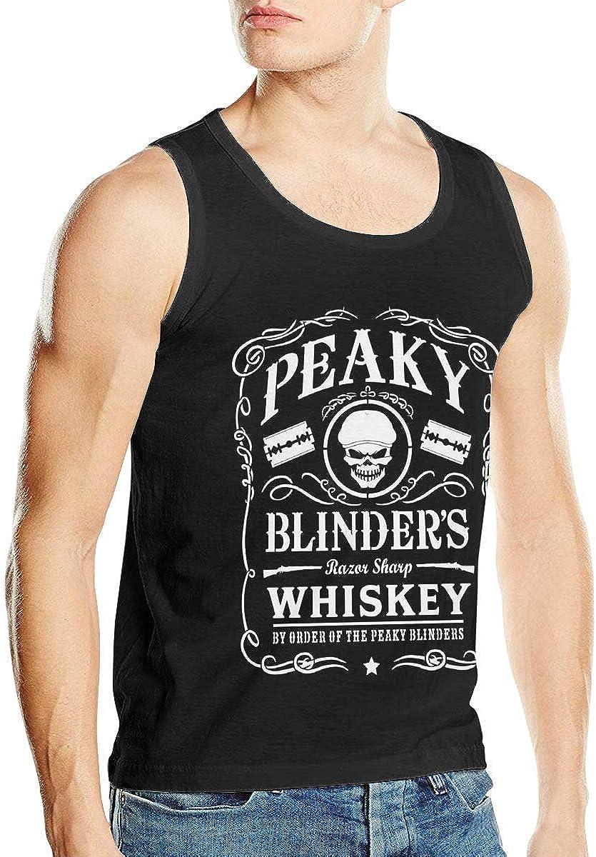 Welikee Camiseta, Manga Corta, Peaky Blinders Mens Soft Mens Tank Top Shirt Summer Vest