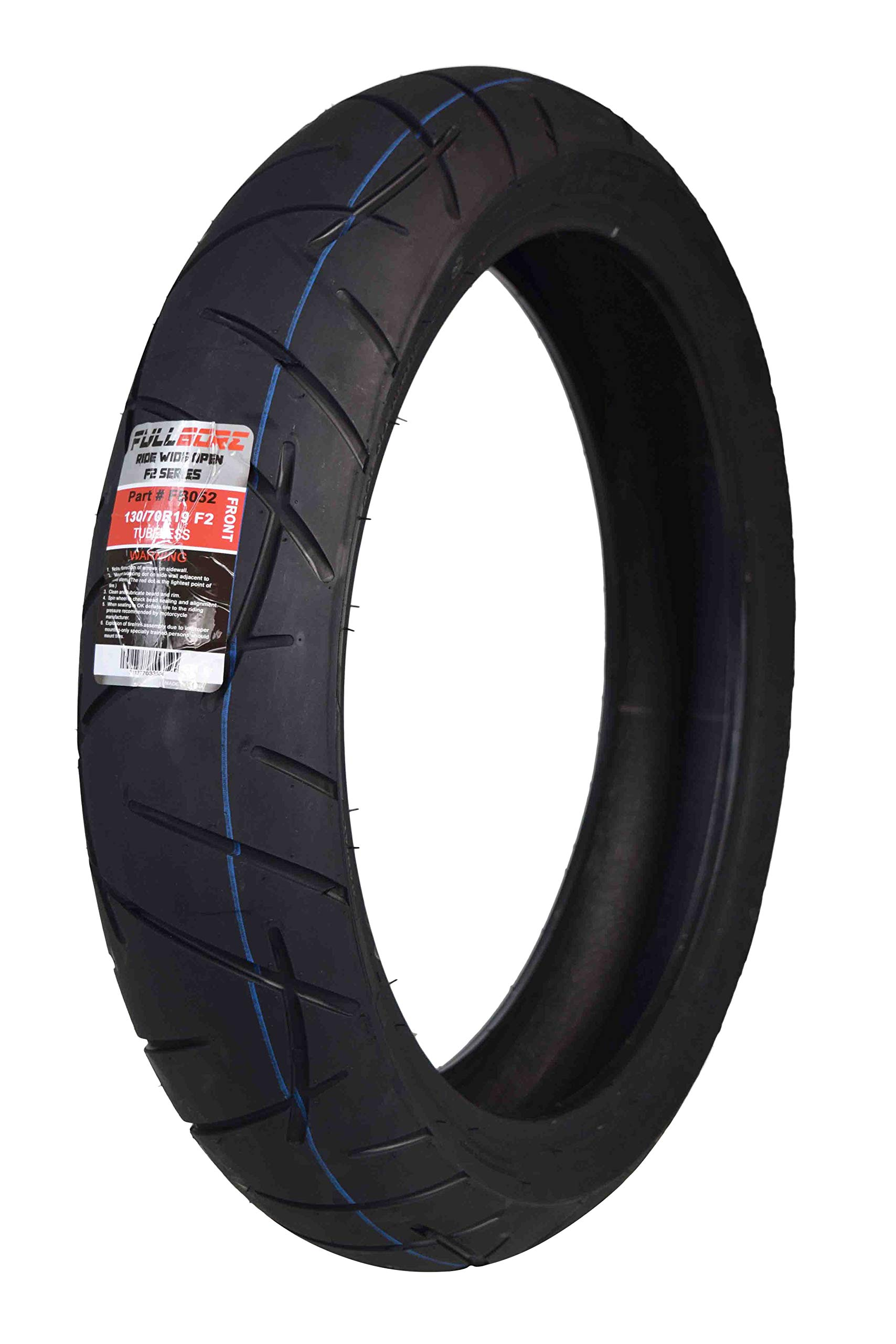 Full Bore F2 Front Single Tire (130/70R19 Front) Upgrade your 120/70R19 with a fatter 130/70R19