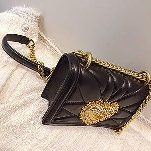 Ladies Love Heart Pattern Chain Shoulder High Women Leather ...