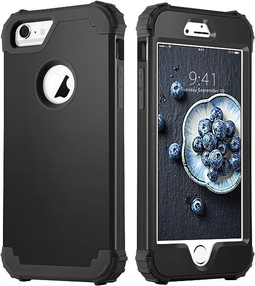 Duedue Coque pour iPhone 6 et iPhone 6S - Résistante aux chocs - Protection fine 3 en 1 hybride rigide en polycarbonate souple - Coque de protection ...